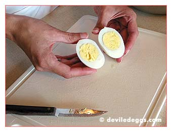 Slicing the egg